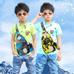 儿童斜挎包包男孩子胸包男童潮韩版户外单肩包女童小学生腰包背包
