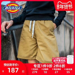 【商场同款】Dickies腰部logo抽绳短裤 新品褶皱女短裤DK007544
