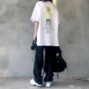NNOVA20SS国潮基础小雏菊短袖T恤潮牌中性bf风oversize男女情侣装