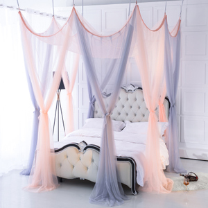 Installation-free ceiling European-style eight-door door landing bed mantle 1.51.8m Princess encrypted thickened simple household mosquito net
