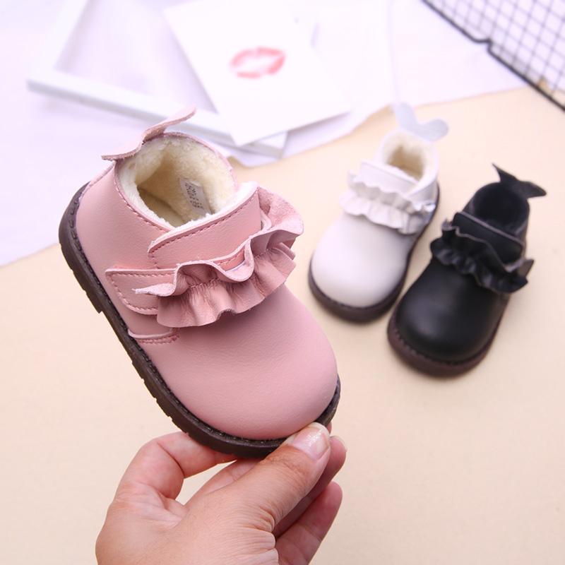 [¥54]女童公主鞋冬季韩版童鞋儿童皮鞋加绒保暖棉鞋1-3-5岁宝宝学步鞋