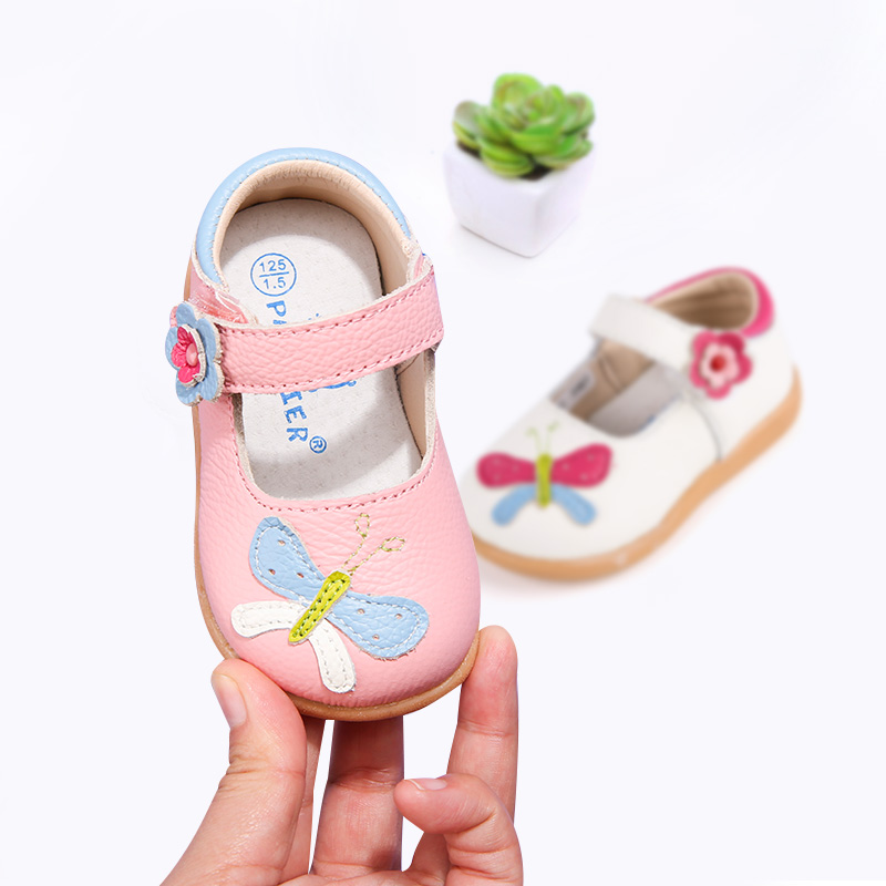 [¥44]真牛皮鞋女童公主鞋1-3-5岁宝宝学步鞋软底小童单鞋儿童皮鞋韩版