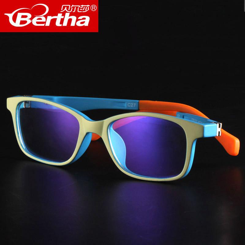 Bertha儿童防蓝光眼镜男女防辐射眼睛防电脑护目镜近视游戏平光镜