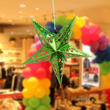 One World Edge Celebration Celebration Decorations Laser Stars Five-pointed Star Pendant Festival Decoration Ornaments