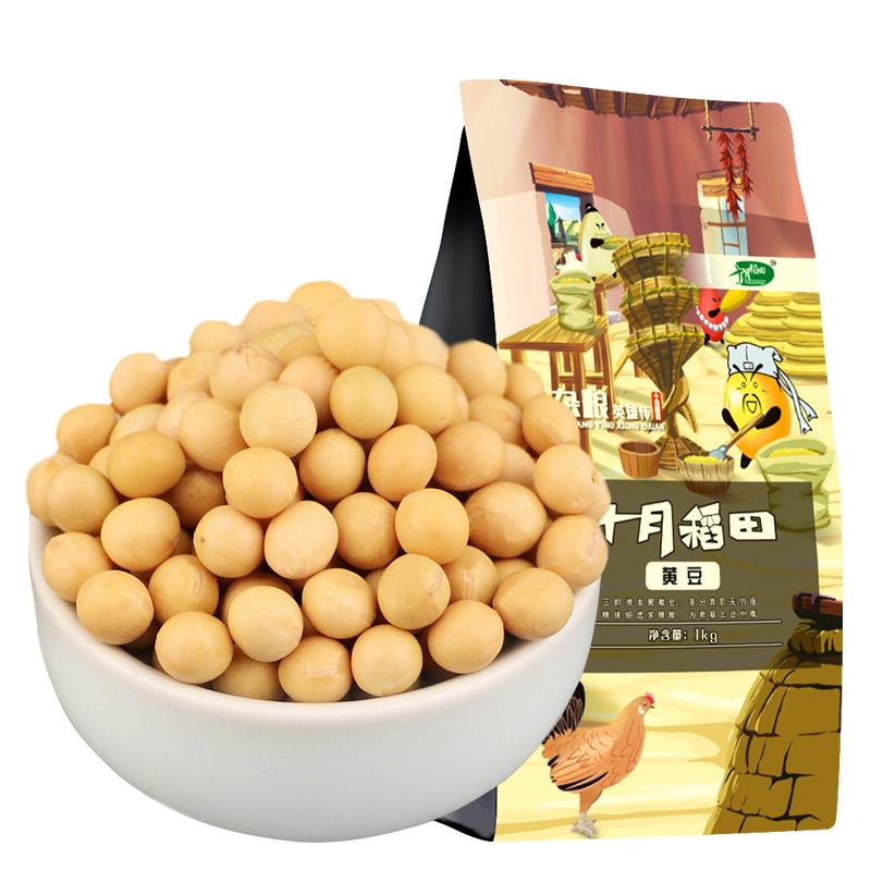 十月稻田黄豆五谷杂粮 东北粗粮 豆浆豆 黑豆 腊八粥1kg