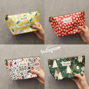 韩国防水化妆包迷你韩版便携旅行收纳包袋大容量可爱手拿包手机包图片