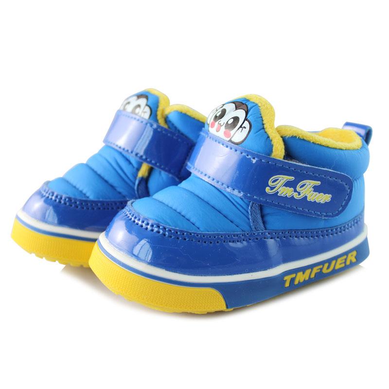 托米福儿秋冬季加厚加绒保暖雪地鞋防滑软底保暖儿童棉鞋BM2957