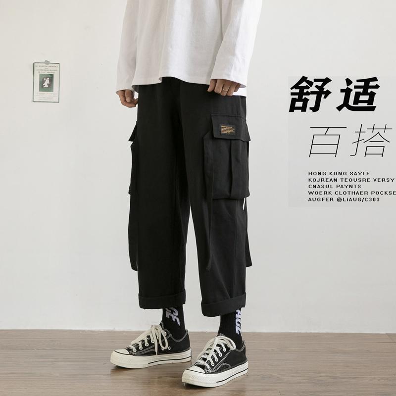 爆转化超高!工装休闲裤男女中性个性宽松裤子NB311P58