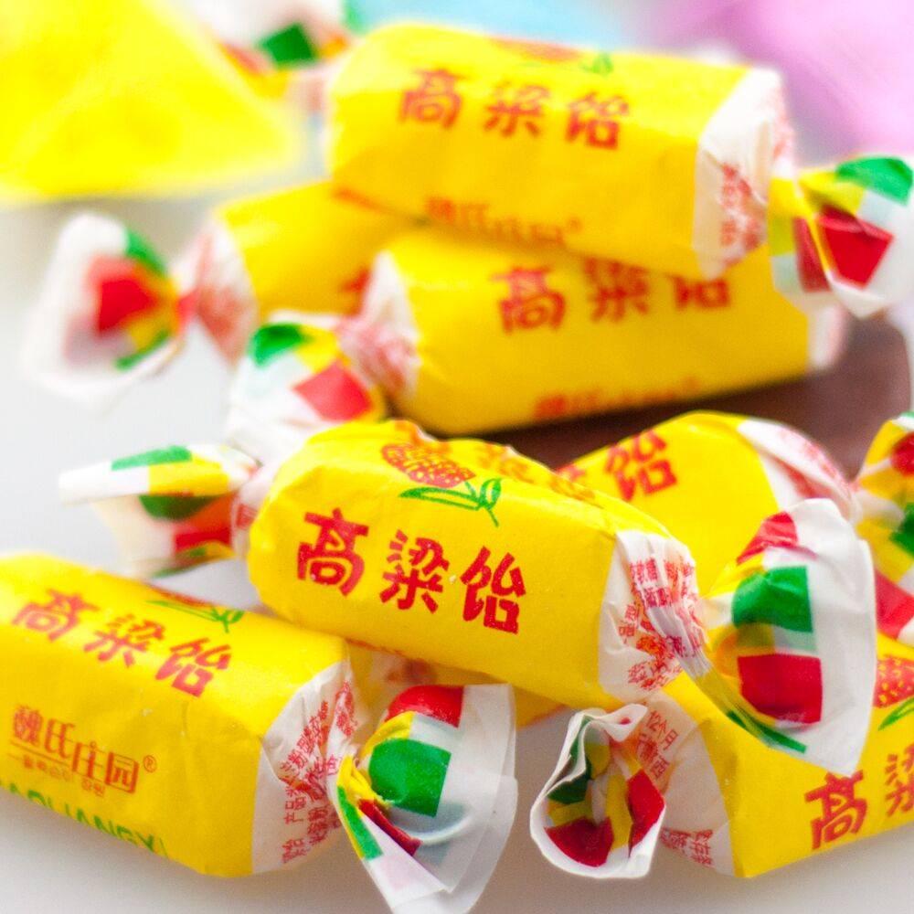 高粱饴软糖老式多口味野风酥高粱饴糖5斤装山东特产散装糖果喜糖