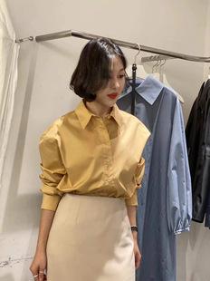 现货LEIRAGO韩国东大门2021春季新款时尚气质通勤显瘦长袖衬衫女