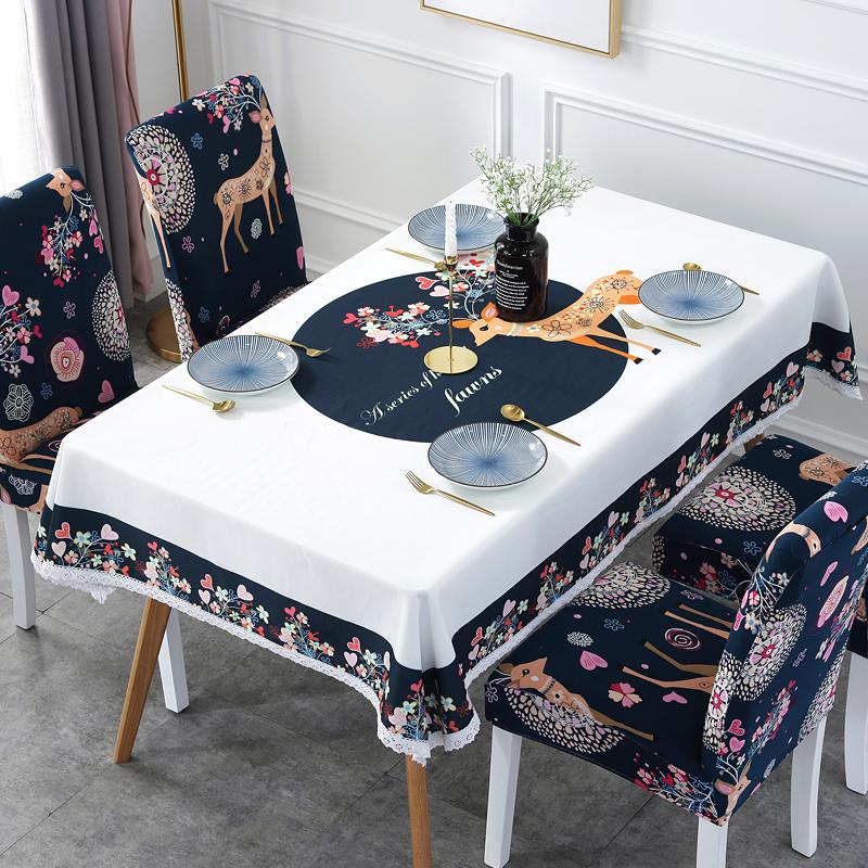 餐厅酒店椅子套罩弹力简约防水桌布连体餐桌座椅套家用餐椅套