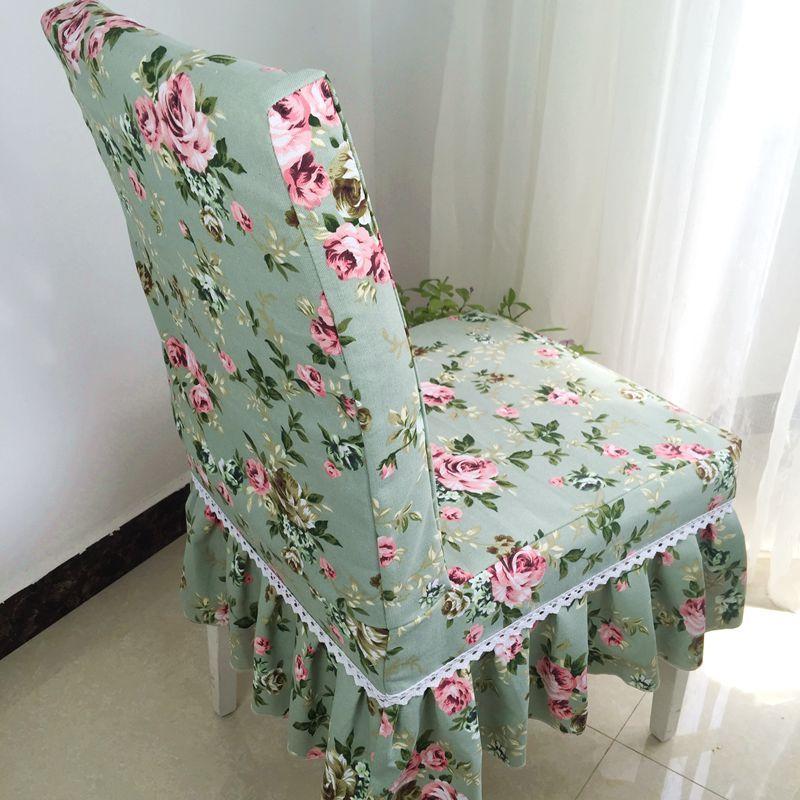 连体椅子套桌布全棉餐椅套田园风家用餐椅套椅子套罩淡幽香系列