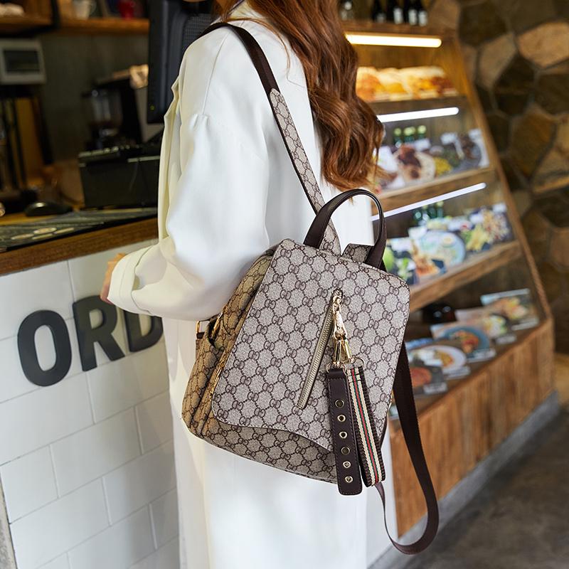 双肩包女2019新款韩版时尚潮女士背包大容量旅行包手提多功能女包