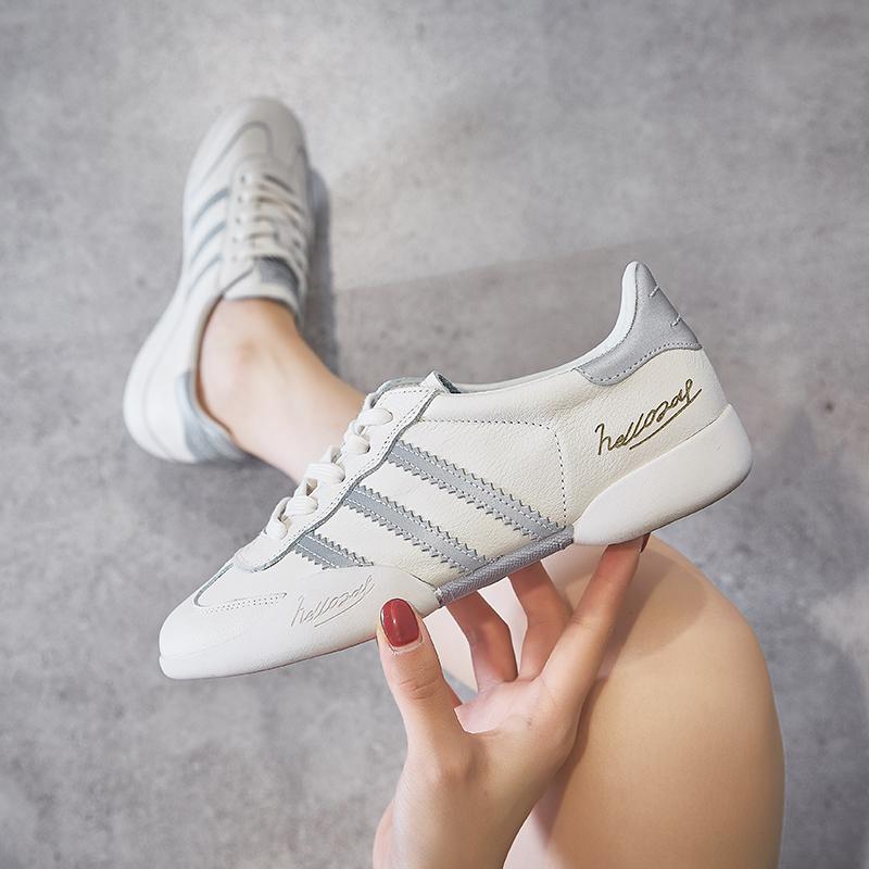 软底真皮小白鞋女2020春秋季新款韩版百搭舒适网红休闲鞋透气板鞋