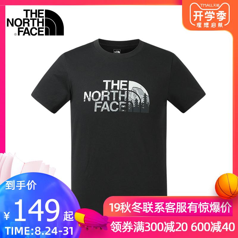 19春夏TheNorthFace北面T恤男款户外舒适短袖3V4Q/A9UP/3RKU