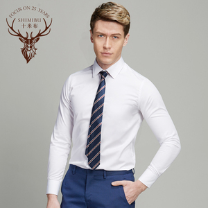 Ten meters of cloth shirt male long-sleeved business suits self-cultivation Korean version of the white non-hot casual c