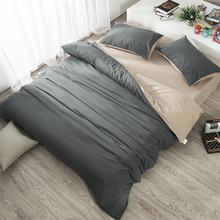 纯色纯棉床笠四件套磨毛xi8件套1.en棉床单被套1.8m2床上用品