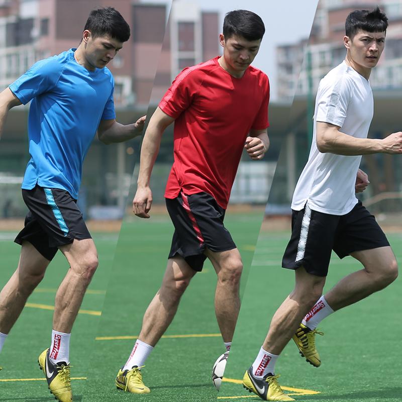 2019短袖足球训练服中超球员运动T恤足球服足球比赛定制球衣队服