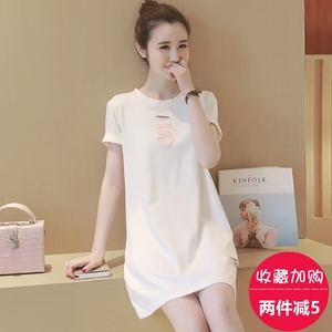 Maternity blouse summer 2017 short sleeve cotton pregnant women t-shirt long paragraph loose compassionate bottoming shi