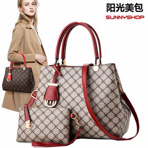 Middle-aged women's bag mother bag women's mother bag trend European and American fashion handbag atmospheric wild shoulder shoulder bag