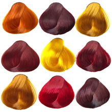植物染发剂纯zh3天然紫色mi亚麻金黄绚丽红橙色葡萄紫酒红色