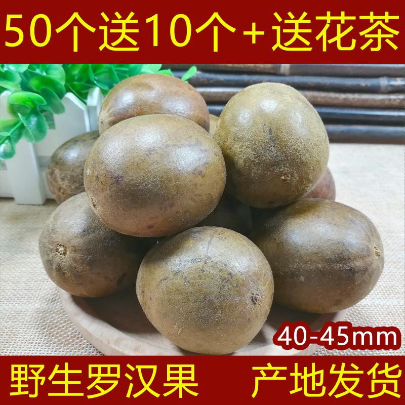 60个野生罗汉果广西桂林永福特产散装凉茶润喉茶干果新鲜罗汉果茶