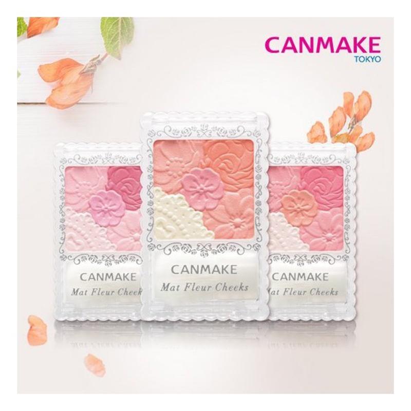 【? 正品】CANMAKE/井田花瓣雕刻五色腮红防水持久珠光哑光高光