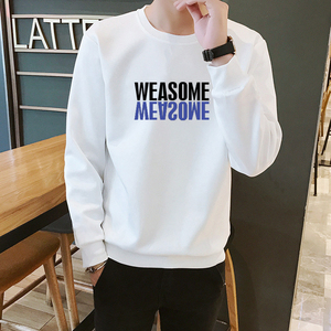 Men's long-sleeved t-shirt 2019 new spring and autumn Korean version of the trend of casual tide brand men's clothes