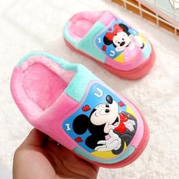 秋冬季儿童棉拖鞋包跟男童女童防滑棉拖保暖卡通宝宝室内厚底拖鞋