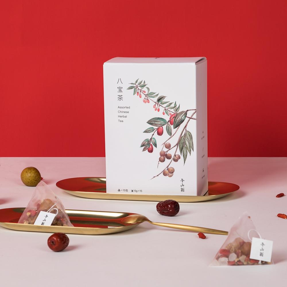 【与山翁】清热去火组合茶三角茶包养生八宝茶桂圆红枣枸杞茶礼盒