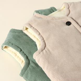 反季儿童马甲外穿秋冬男童宝宝丝棉小马夹婴儿内穿厚背心女童洋气图片