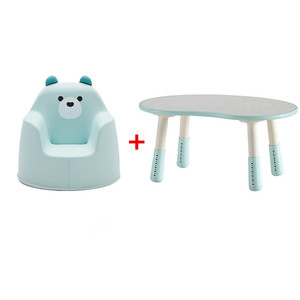 Korean same baby children's study table children's writing table game table can be raised and lowered adjustable table peanut table