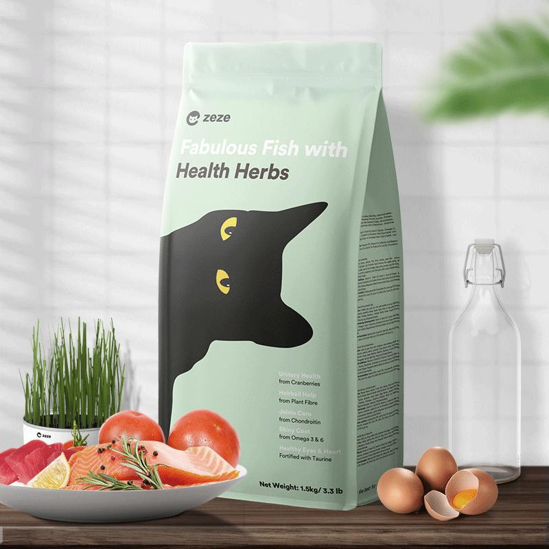 zeze猫粮成猫幼猫粮鱼味猫咪主粮英短专用天然10鱼肉3斤配方升级
