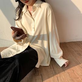 外穿百搭衬衫女2020新款秋款设计垂感小众雪纺春秋白衬衣长袖上衣