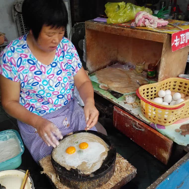 新昌嵊州春饼薄饼手工饼手抓饼特产农家自制麦饼点心春卷皮500g克