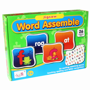 Jigsaw Math Arithmetic English Word Puzzle Desktop Games Chess Early Learning Intelligence Puzzle Child Inserting Toys