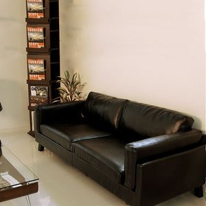 Simple and modern small apartment leather art sofa Nordic black living room office visitor single double three person Japanese style furniture