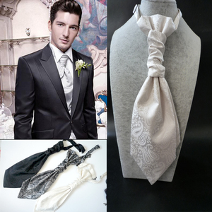 Men's bow tie groom with white black tie Fang You dinner suit knot wedding England silk Hong Kong knot