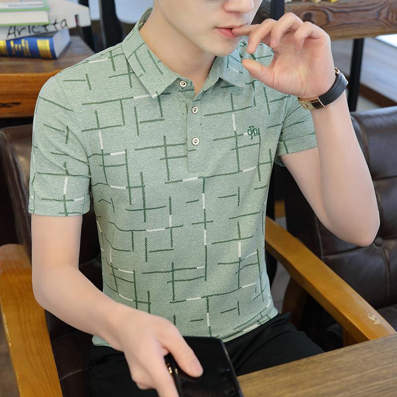 夏季海澜之家 男士短袖t恤2020新款潮流修身速干衣保罗冰丝polo衫