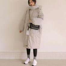 2020冬季中长款连帽茧型羽绒mo12服女韩sa加厚棉衣大衣外套