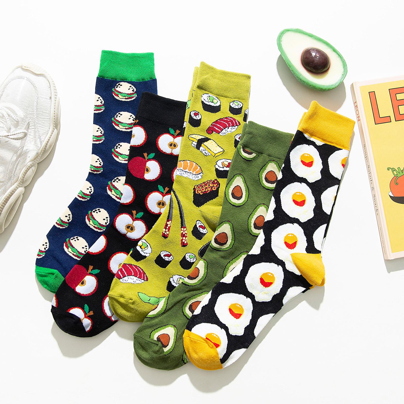 牛油果长袜子女夏季中筒袜ins潮网红街头绿色长筒袜个性薄款夏天