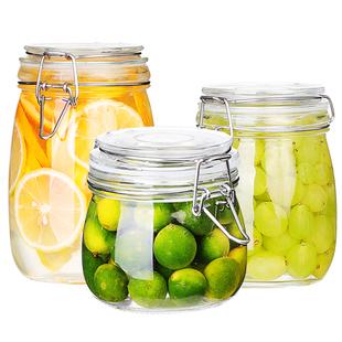 玻璃食品级蜂蜜瓶咸菜罐泡酒密封罐
