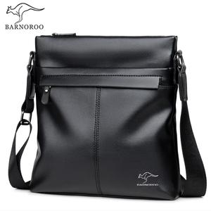 Kangaroo 2019 New Men's Bag Shoulder Messenger Bag Men's Backpack Business Casual Bag Diagonal Soft Leather Bag