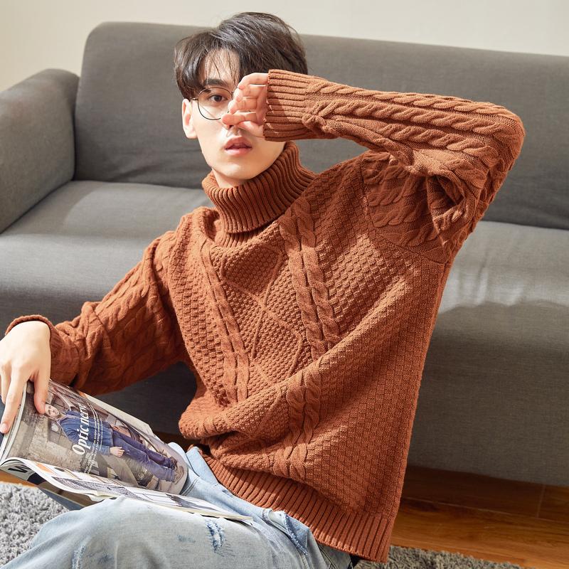 美特斯邦威毛衣男2019冬季新款潮牌潮流休闲舒适男士长袖毛衫