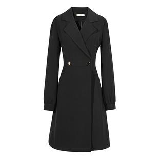 伊自尚大码女装2020新款秋装胖mm气质中长款风衣外套显瘦遮肉洋气图片