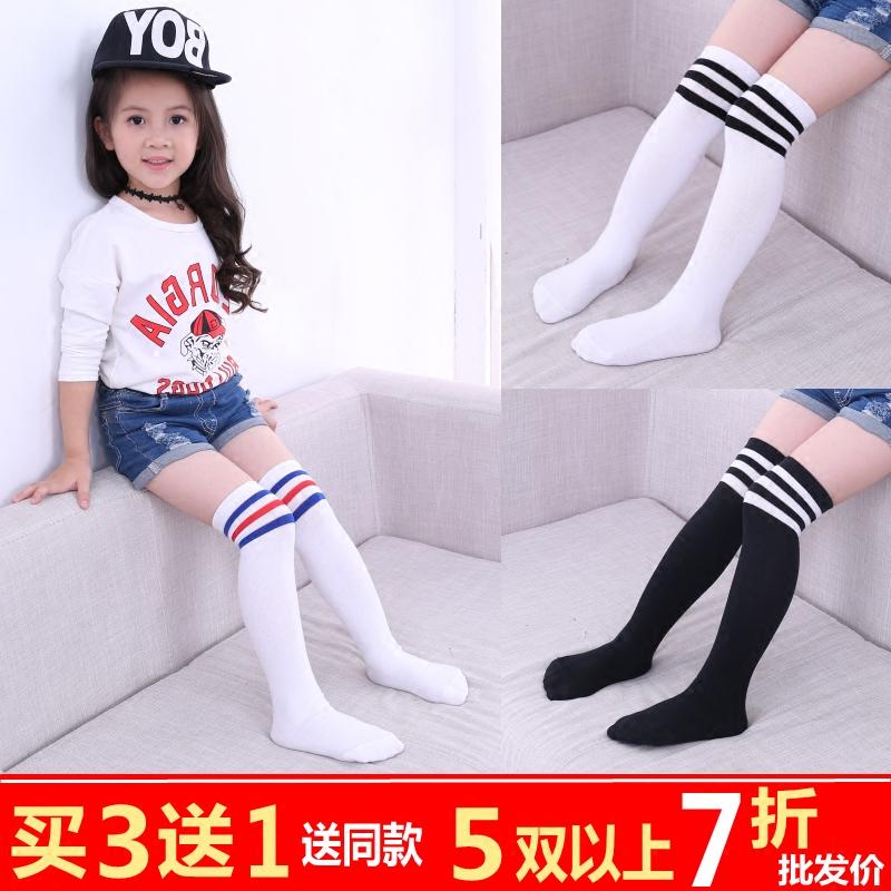 女童中筒袜儿童长筒袜 过膝 纯棉韩国春秋款宝宝高筒夏半堆堆袜子