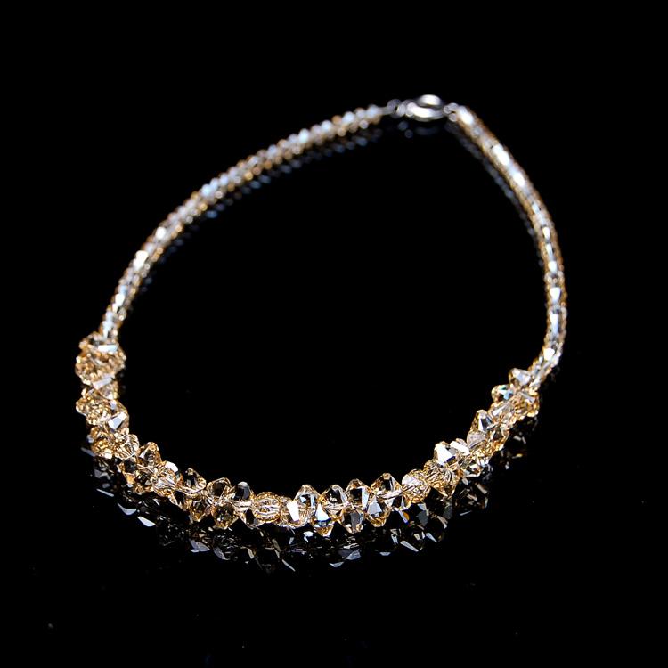 情人节礼物送女友高档宴会奥地利水晶项链 饰品 锁骨颈链串珠锁骨
