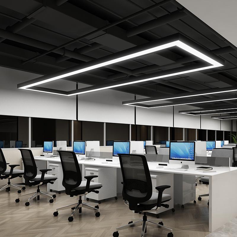 長方形吊燈辦公室led長條燈超亮會議室商場展廳店鋪前台工業風燈