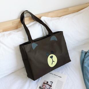 旅行袋可爱韩版大容量旅行包女手提旅游包包包帆布短途行李袋网红