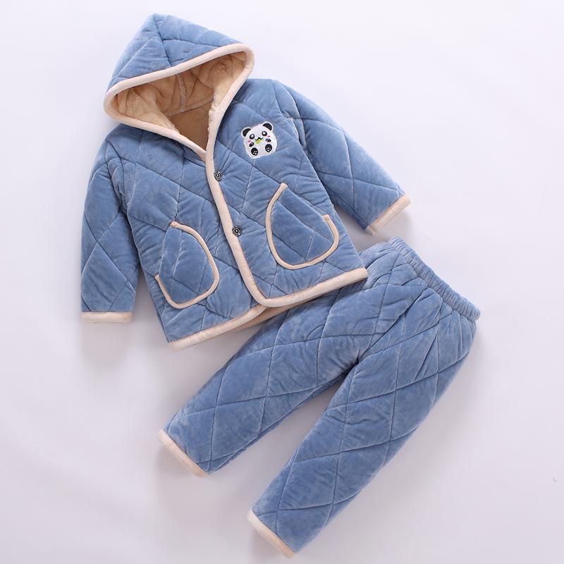 儿童 法兰绒 睡衣 秋冬季 女童 男童 珊瑚绒 加厚 小孩子 宝宝 家居服